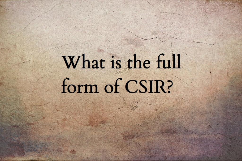 CSIR full form