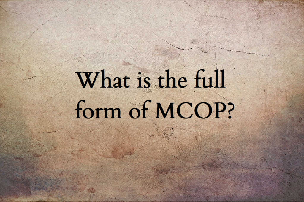 MCOP full form