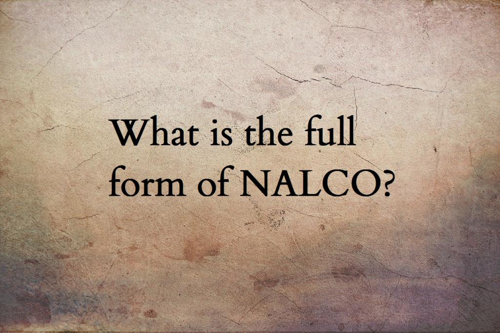 NALCO full form